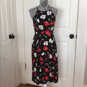 Low cut back, floral Forever 21 Dress